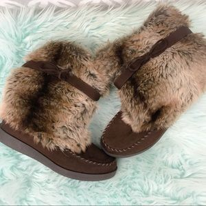 American Eagle Outfitters Faux Fur Suede Boots